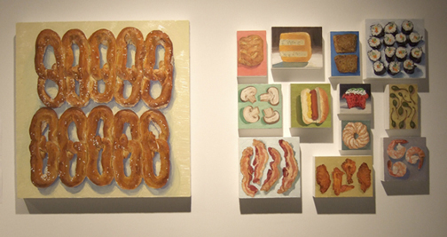foodie paintings installation