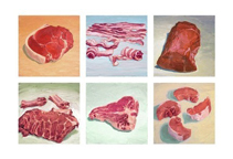 meat paintings