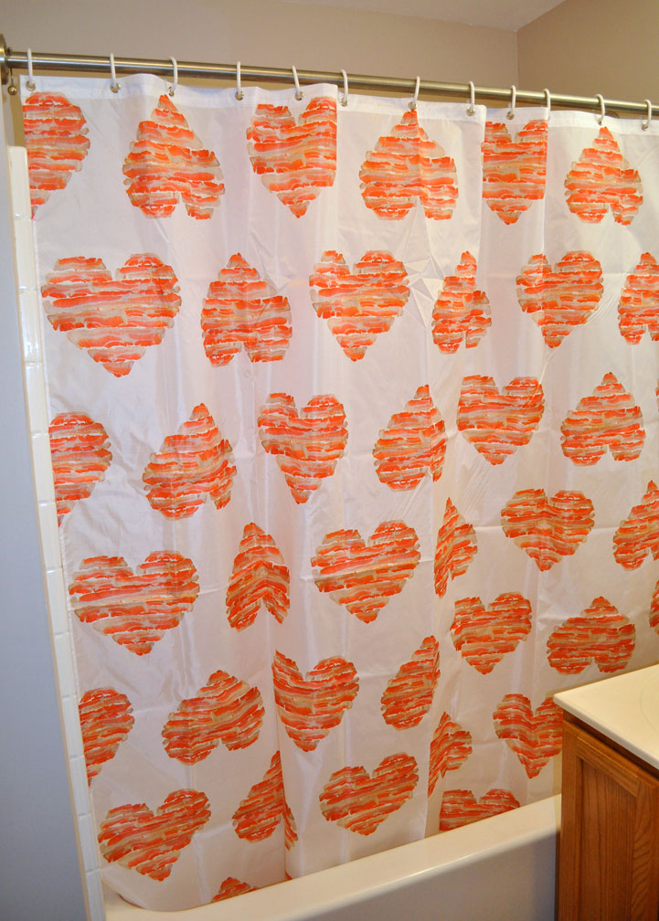 Marvelous Image 2 Of Bacon Love Shower Curtain, Original Artwork By Mike Geno