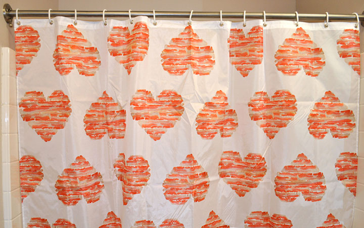 Superbe Image 3 Of Bacon Love Shower Curtain, Original Artwork By Mike Geno
